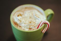 I'll take 2 holidays mochas, to-go, easy on the whip.
