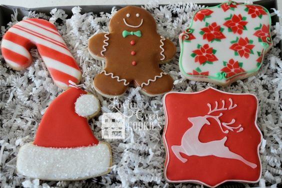 Christmas Decorated Sugar Cookies - Gingerbread Man, Santa Hat, Reindeer, Candy…