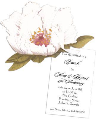 Peony Die-Cut Invitations: Die Cut, 2014 Contest, Stationery Studio, Cut Invitations, Spring Weddings, Spring 2014, Birthday Party