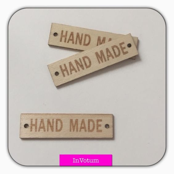 3 x Handmade Holzaufnäher 13x50 mm von In Votum - Kreativ Manufaktur auf DaWanda.com