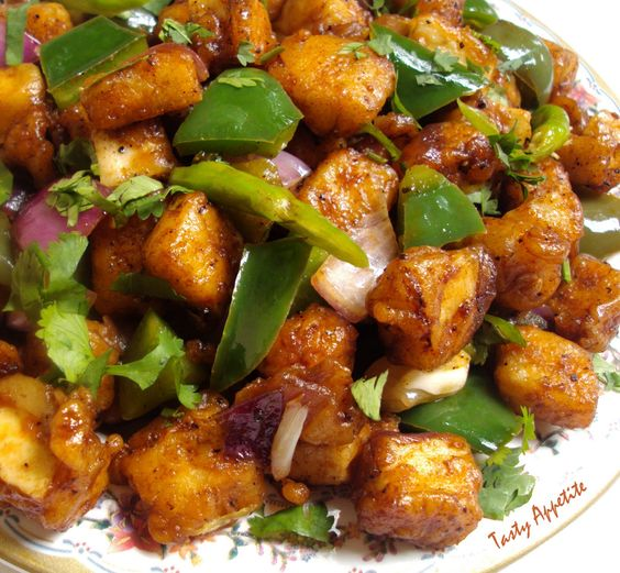 Tasty Appetite: Chilly Paneer Dry / Merry Christmas..!!!