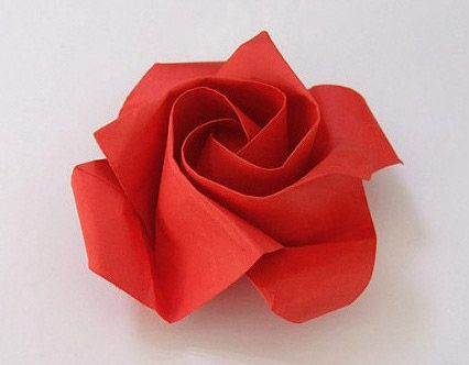 Basic origami rose folding so that we can easily learn a simple origami rose production