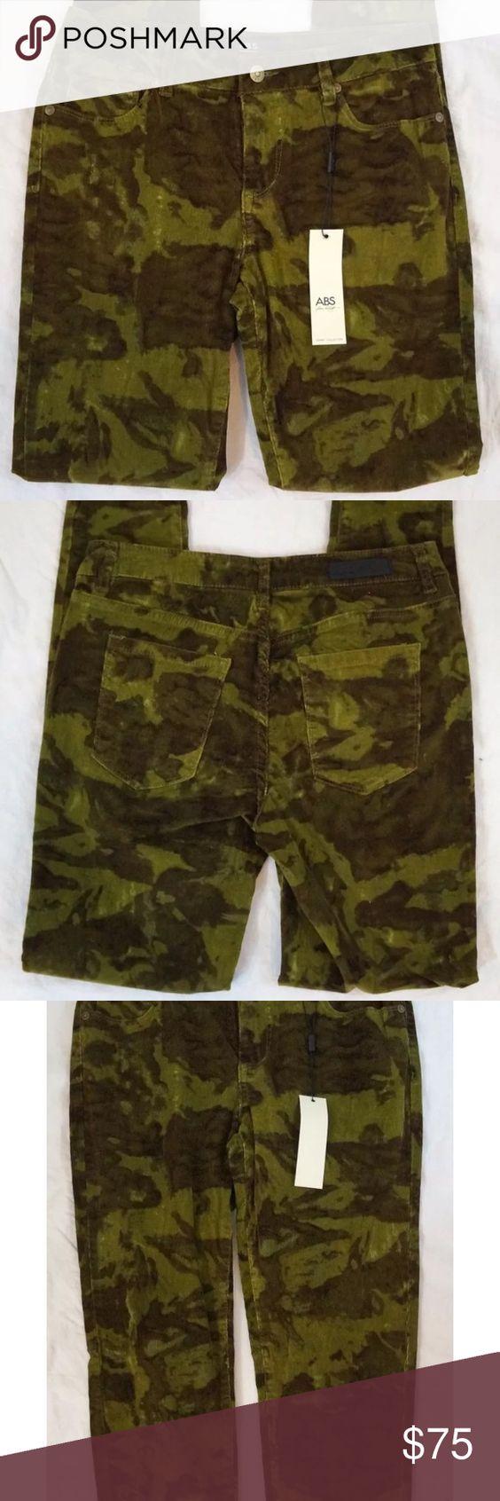 ABS anthro skinny leg camo corduroy pants sz 27 NWT | D, Abs and Pants