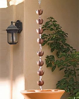 Rain Chain I D Like One For Our Rain Barrel Being