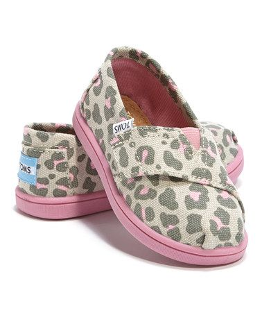 Love this Pink Leopard Classics - Tiny by TOMS on #zulily! #zulilyfinds