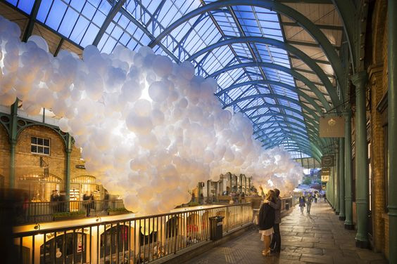 If you thought that balloons were just for small children's birthdays and awkward hen parties, think again. Covent Garden's Market Building is getting a new art...