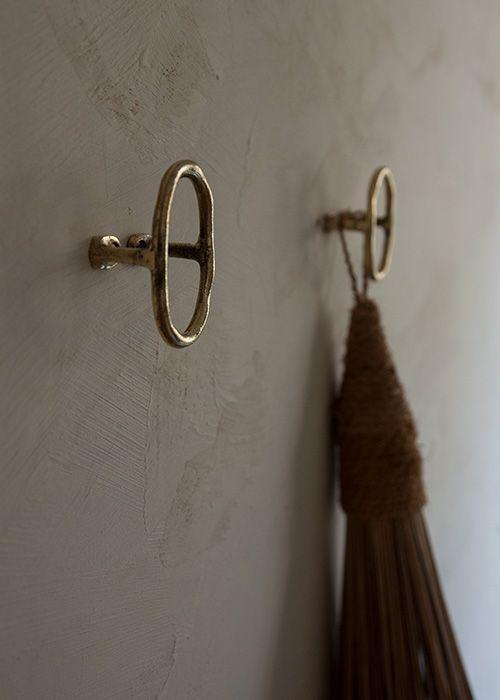 Brass Wall Hook Or Door Pull 55 In 2020 Brass Wall Hook Curtain Tie Backs Tie Back Hooks