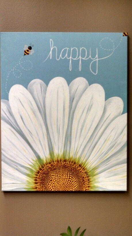1000 Ideas About Flower Painting Canvas On Pinterest Arte Art Paint Projects