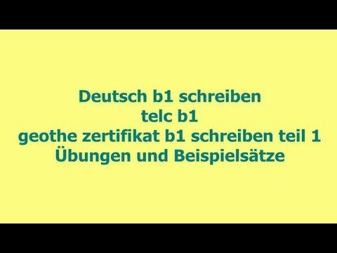 Brief Schreiben B1 Beispiele Deutschb1 Icu Briefe Schreiben Lernen Schreiben