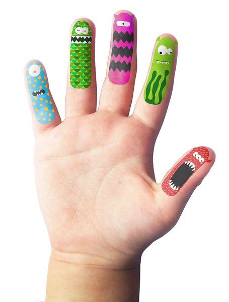 """Für echte mini Fingerpuppenfans!  ♥ Viel Spass sei euch garantiert mit den Finger Tattoos   ♥ lustige Monster, eure Kinder werden diese """"Finger..."""
