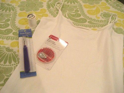 Super super easy DIY nursing cami from SimplyRealMoms.com #wow