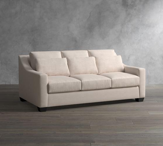 York Slope Arm Deep Seat Upholstered Sofa Upholstered Sofa Deep