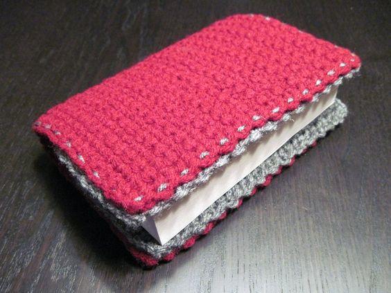 Simple Crochet Book Cover ~ Book cover love the edging crochet pinterest