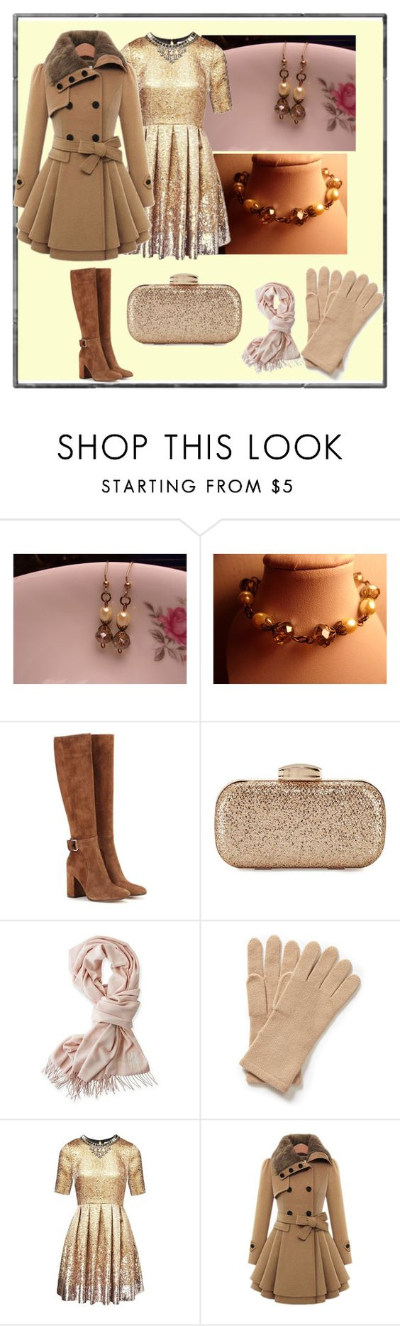 """Untitled #562"" by bamagirl0320 ❤ liked on Polyvore featuring Gianvito Rossi, Mark & Graham and Matthew Williamson"