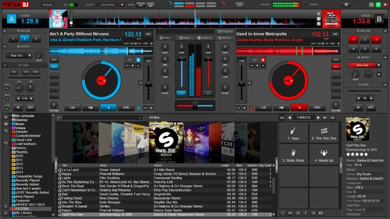 VIRTUALDJ MAIN INTERFACE Screenshot