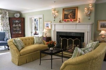 Mantels Antiques Fine Art - traditional - Living Room - Philadelphia - Meadowbank Designs