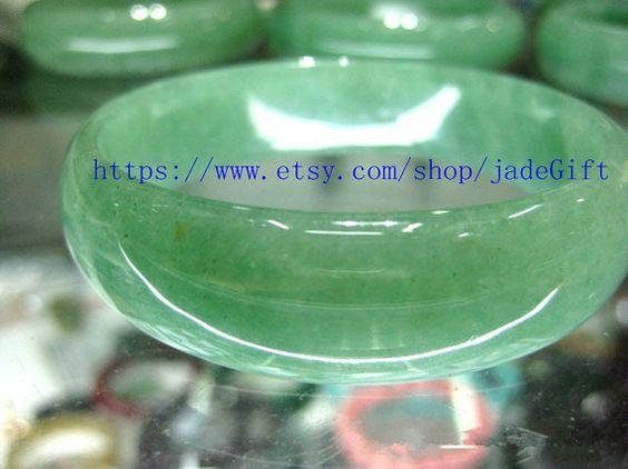 FREE SHIPPING  Natural AAA Grade green jade bangle  by jadeGift, $74.00