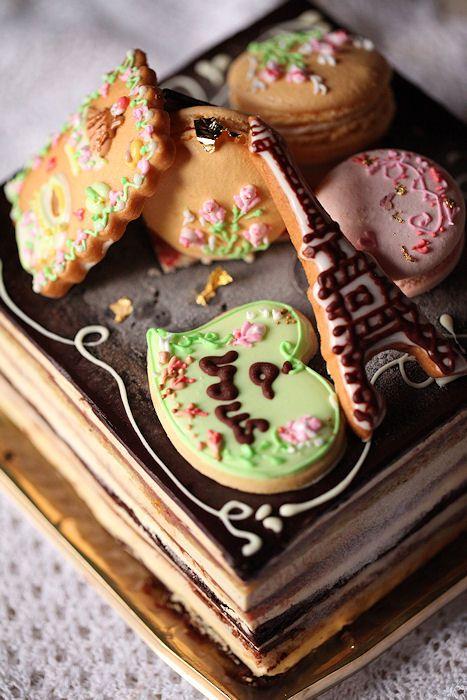 パリの思い出ケーキ:Paris cake