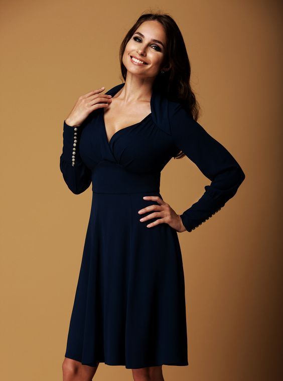 Our dresses are cut to accentuate the waist and flatter a big bust ...