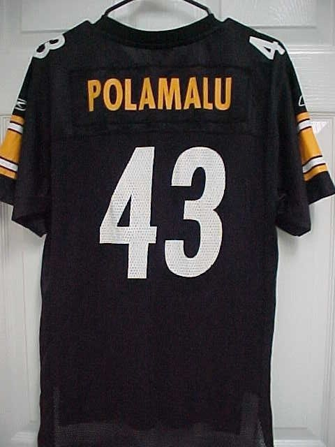Troy Polamalu 43 Pittsburgh Steelers Super Bowl Xliii Youth Jersey Xl Reebok Reebok Pittsburghsteeler Steelers Super Bowls Troy Polamalu Pittsburgh Steelers