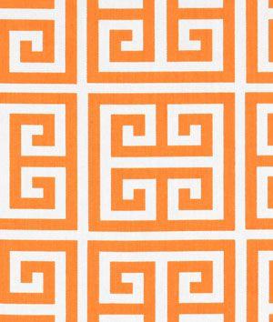 Premier Prints Towers Sherbet Orange Twill Fabric : Image 2
