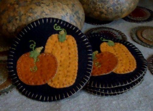 Pumpkin Mug Mats E-Pattern