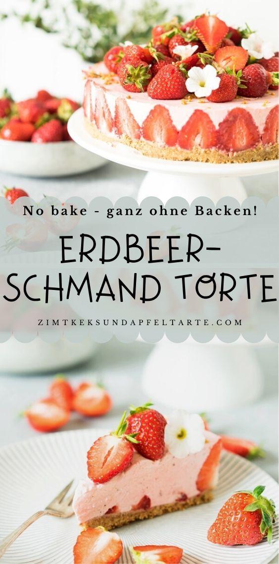 Super Leckeres Sommertortchen No Bake Erdbeer Schmand Torte In 2020 Lecker Kuchen Und Torten Fruchtige Torten