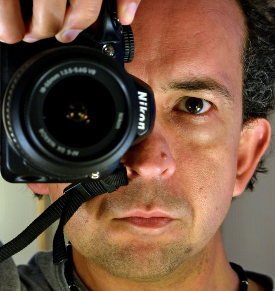 Cropped self-portrait: