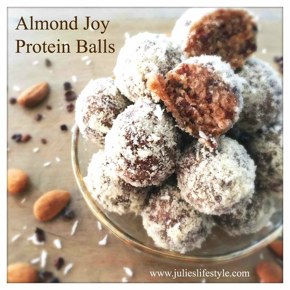 Almond Joy Protein Balls. Add some gourmet Coffee or Tea from Cousins 3 Coffee, please visit us here: http://cousins3.myorganogold.com