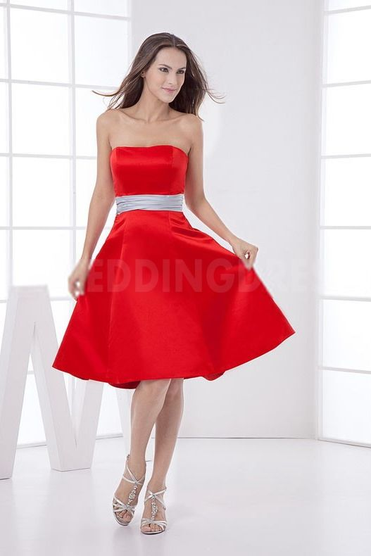 Satin Strapless Luxury Bridesmaids Dresses - Order Link: http://www.theweddingdresses.com/satin-strapless-luxury-bridesmaids-dresses-twdn5140.html - Embellishments: Sash; Length: Floor Length; Fabric: Satin; Waist: Natural - Price: 108.0296USD