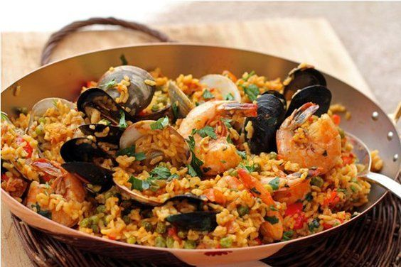 Spicy Andalusian Seafood Paella - One of my favorite dishes of all ! :)