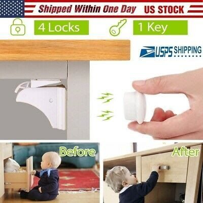 10pcs Cabinet Locks Child Safety Self Adhesive Invisible Drawer Lock Latches 3M