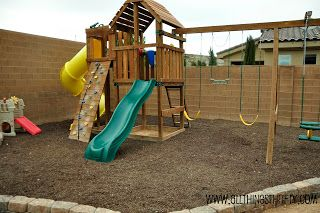 Outdoor Swing Sets and How to prevent weeds in the long run.