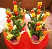 Vegetable Crudités with Greek Yogurt Dip on virtue.harvest.org