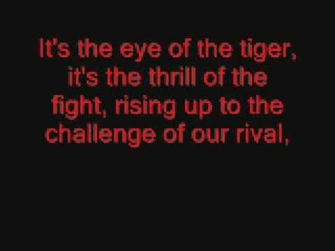 Eye of the Tiger lyrics  - Jensen lip syncing is still better...
