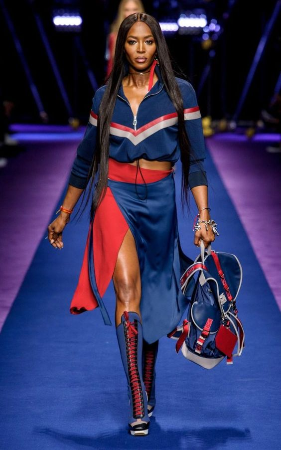 Naomi Campbell stars in Versace's sexy, sporty, barnstormingly brilliant Milan Fashion Week show: