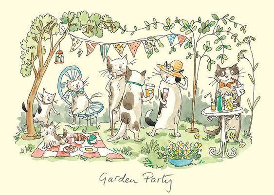 "The Garden Party A collection of quality greetings cards, about 6"" x 4"" in size, supplied with envelopes, with the inside blank for your own message. Free Shipping offered if bought by its self.:"