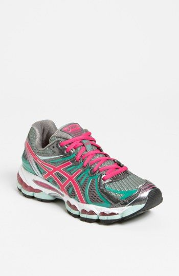 Love the fun summery colors of these ASICS running sneakers. Makes me want to work out :-)