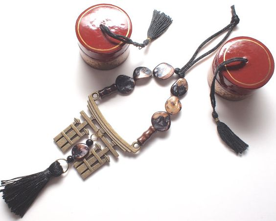 Asian Good Luck Shinto with Motherof Pearl & Wood by StringOfLuck, $15.00