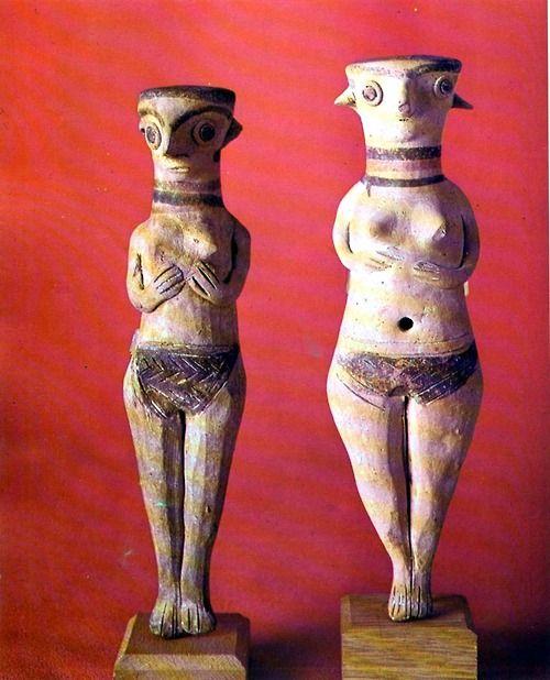 """Astarte"" Figures, Clay 13th century B.C. Cyprus."
