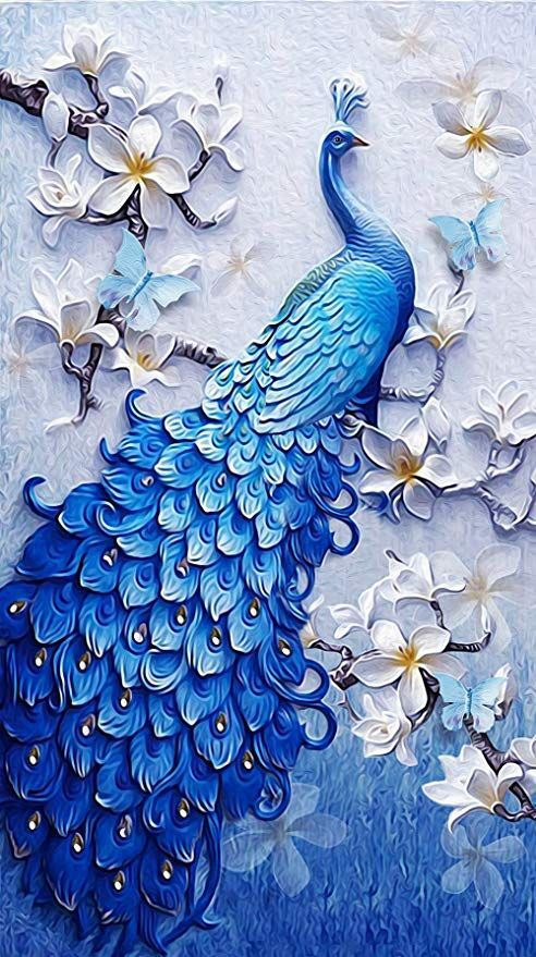 DIY Full Drill Diamond Painting 5D Decor Parrot And Flowers Cross Craft Kits