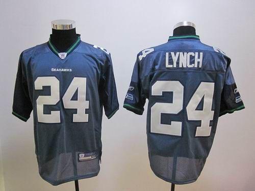 NFL Jerseys - Seattle Seahawks 24# Marshawn Lynch blue Jersey | Cheap NFL ...