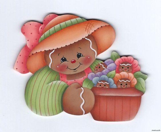 HP GINGERBREAD with Ginger Flowers FRIDGE MAGNET   eBay