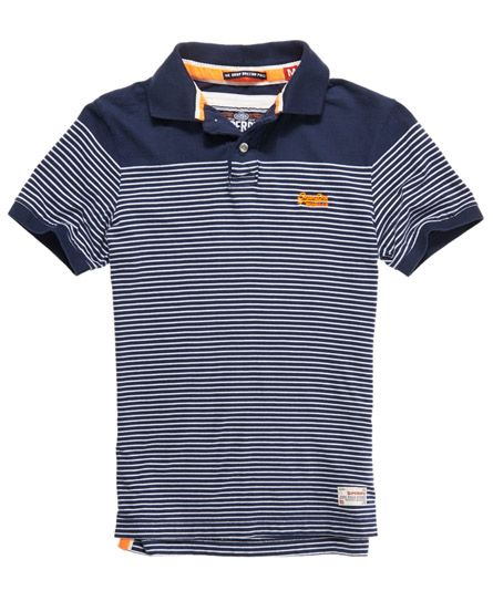 Superdry Dropped Breton Polo - Men's Polo Shirts