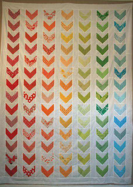 Rainbow Chevron Twin Quilt: A Tutorial