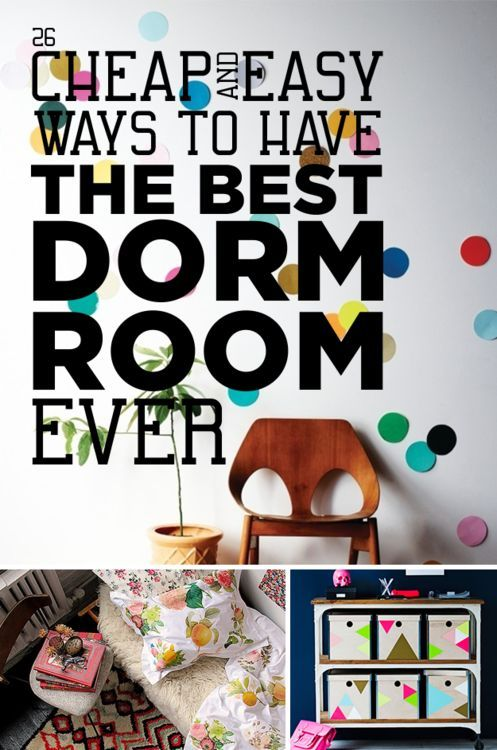 These are pretty good tips for decorating on a tight budget, even if you don't have an actual dorm room. The phone projector idea is brilliant!