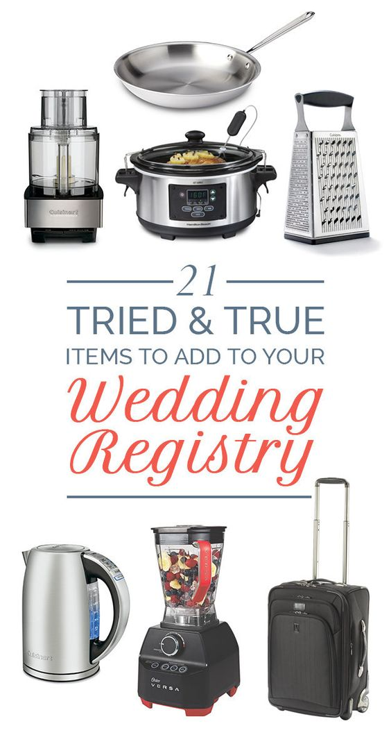 Wedding registries worth it and wedding on pinterest for Things to put on wedding registry