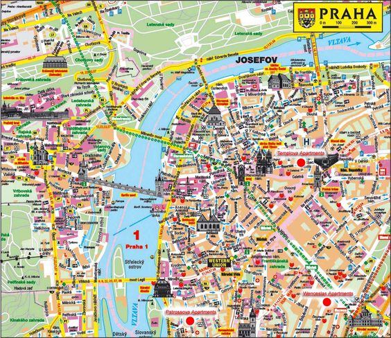 find map of Prague Czech Republic – Tourist Map of Prague