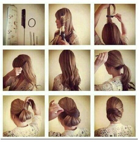 Enjoyable Buns Hairstyles And Easy Bun On Pinterest Hairstyle Inspiration Daily Dogsangcom