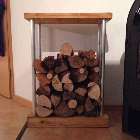 kaminholzregal kaminholzst nder 80cm holzkorb brennholz. Black Bedroom Furniture Sets. Home Design Ideas